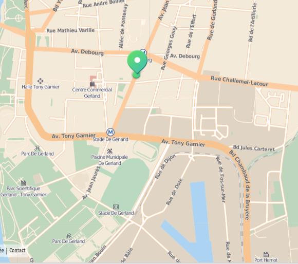 Appartement Lyon Gerland - Plan d'accès