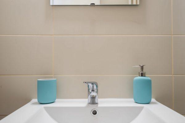 Lavabo de la salle de bain de l'appartement Lyon Gerland